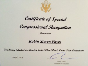 Congressional Recognition for Out of Time