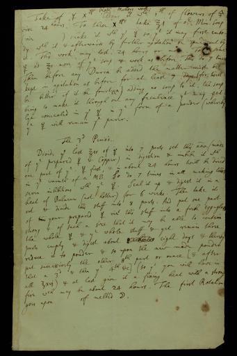 Isaac Newton alchemical manuscript